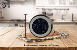 Touch Screen Digital Kitchen Timer with Temperature Humidity pictures & photos