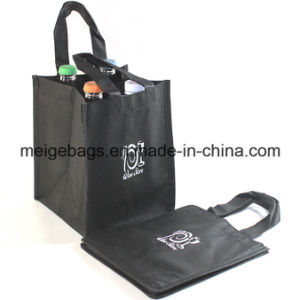 Non Woven 4-Bottle-Wine Tote Bag, with Custom Logo Imprint pictures & photos