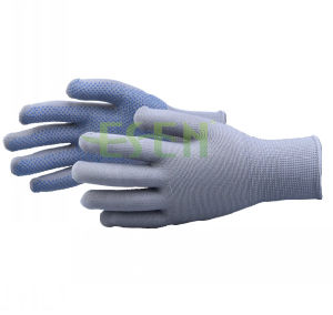 Industrial Anti-Static Blue  Latex  Coated Gray Yarnglove/Wear-Resistant  Palm  Coated  Gloves pictures & photos