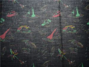 Ramie Cotton Printed Fabric for Skirt (DSC-4140) pictures & photos