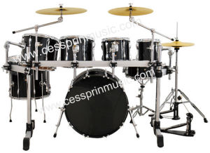 7 PC Drum Set with Rack/ Hot Sell/ Drum Manufacturer/ Cessprin Music (CSP7016) pictures & photos
