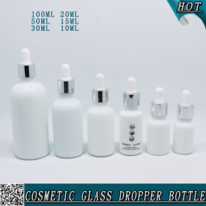 Child Proof Opal White Glass Dropper Bottle with Pipette pictures & photos