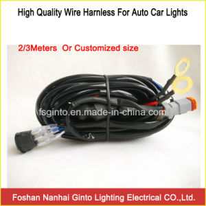 LED Work Light, LED Light Bar 2/3 Meters Wire Harness pictures & photos
