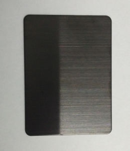 304 Black Hairline Color Stainless Steel Sheet for Building Material