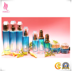 Luxury Embellished Blue Cosmetic Glass Package pictures & photos