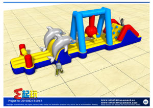 Combined Inflatable with Obstacles