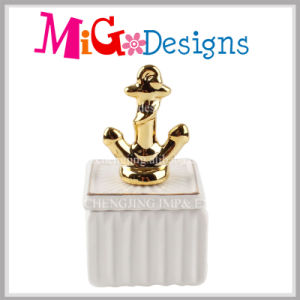 New Arrival Anchor Ceramic Jewelry Box for Decoration pictures & photos