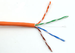 Ethernet Cable 1000FT Bare Copper Cat5e Grey Orange LSZH pictures & photos