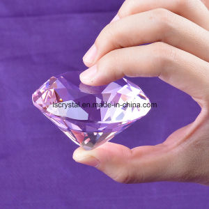 60mm Big Size Crystal Glass Paperweight Diamond for Decoration pictures & photos