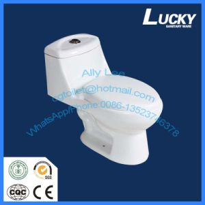 Sanitary Ware One-Piece Toilet, Siphon Vortex with Jet (JX-1#) pictures & photos