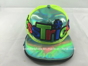 e9fa0424a3a TPU Double Brim Snapback Cap with 3D Embroidery and Printed Logo Design