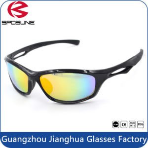 Glossy Black Polycarbonate Sport Glasses Anti UV Cycling Sunglasses pictures & photos