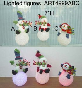Santa and Snowman Playing Lighting Ball, 3 Asst-Christmas Lights pictures & photos
