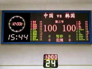 Outdoor and Indoor LED Sign Scoring System/LED Scoreboard (LED display) pictures & photos