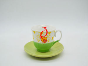 Spring Ceramic Bulk Coffee Saucer and Cups