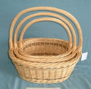 Wicker Willow Basket with Paper Rope (WBS024)