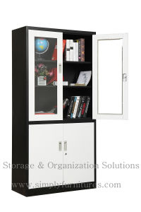 Double Swing Glass Door Storage Cabinet (SPL-DSG01) pictures & photos