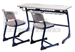 School Furniture Double School Desk and Chair Sf-32D pictures & photos