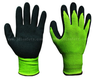 Foam Latex Coated Work Glove with Brushed Shell (LCS3019B) pictures & photos