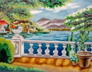 Hand Painted Art Ceramic Painting (DT4214) pictures & photos