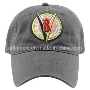 Washed Applique Embroidery Print Baseball Sport Golf Cap (TMB9123) pictures & photos
