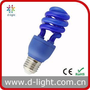 Colored Blue High Brightness Decoration Lamp-Half Spiral CFL