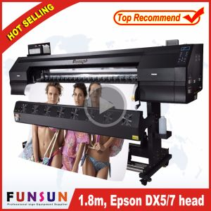 Funsunjet 1802b Outdoor Large Format Vinyl Banner Printing Machine (1.8m, 1440dpi, two DX5 head, economic and good quality) pictures & photos