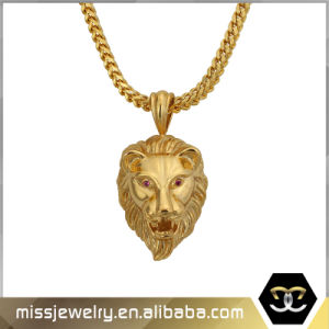China Saudi Gold Jewelry Lion Head Pendants for Men Mjhp030 China