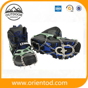 Ice Snow Overshoes Spikes Anti-Slip Grippers Crampons Cleats Grips Hiking pictures & photos