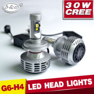High Brightness 3000lm CREE 30W Hi/Low Beam H4 LED Headlight with Canbus