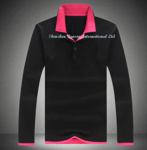 Fashion Long Sleeve Polo Shirt with Good Design pictures & photos
