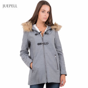 Duffle Faux Fur Outdoor Winter Women Coat pictures & photos