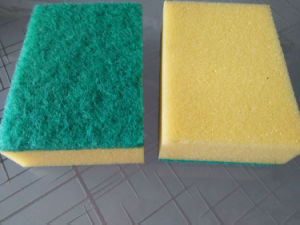 Multi-Color Kitchen Cleaning Sponge, Sponge Scrubber, Kitchen Sponge Scourer pictures & photos