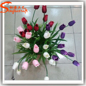 Factory Direct Home Decoration Artificial PU Tulips Flower pictures & photos