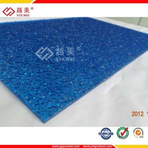 Lexan SGS Proved 1.8mm Polycarbonate Blue Embossed Sheet for Carport Roof pictures & photos