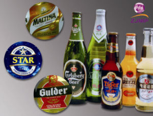 Metalized Embossed Beer Label pictures & photos