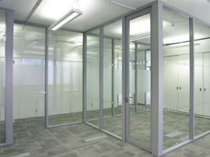 Aluminium Frame Glass Partition with Low Price