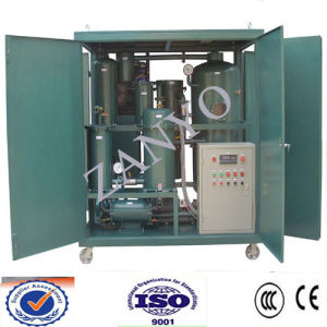 Water-Proof Full Auto Vacuum Turbine Oil Purifier Online Worrking