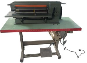 Desk Type Foot Operation Foam Sheet Slitting Machine pictures & photos