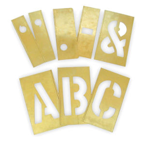 Easy to Use Brass Interlocking Stencil with Letters (2CEC2)
