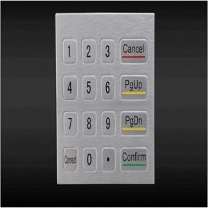 Metal Stainless Steel 4X4 Matrix Keypad
