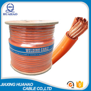 80% Gauge Orange PVC Welding Cable with Wooden Reel Packing pictures & photos