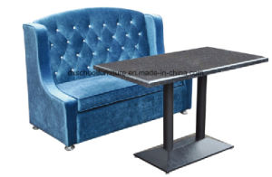 Blue Fabric Sofa Loveseat for coffee Shop