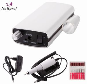 Nailprof Portable 30000rmp Rechargeable Nail Drill Cordless Electric File Wireless Machine