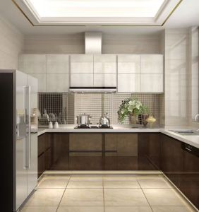 Beautiful Color MDF Kitchen Cabinet From Guangzhou Kitchen Supplier (FOH-MKC136) pictures & photos
