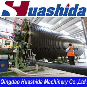 Hollow Wall Winding Pipe Extruder Machinery pictures & photos