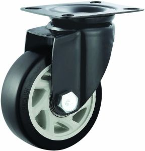 5f48a49441d3 4/5 Inch PVC Swivel Caster Wheels for Trolley