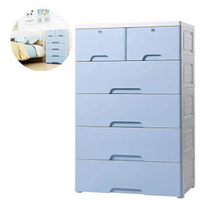 Nafenai 4 Drawer With 2 Cabinet Plastic Storage Bin Baby Closet Toy Box Clothes