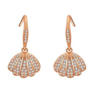 Woman′s Nirvana of Pearl Swarovski Crystals Earrings with Gift Box, Soft Cloth
