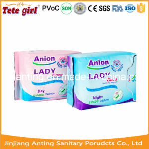 2016 New Cotton Anion Lady Sanitary Pad pictures & photos